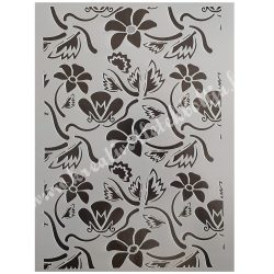 Stencil 191., Virágok, A4