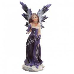 Tündér figura, Invi napforduló tündér nővérei, lila, 5x4,5x10 cm