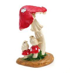 Gomba madárral - Piros