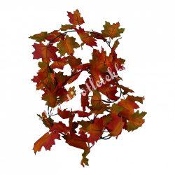 Őszi levélgirland, bordó-narancssárga, 180 cm