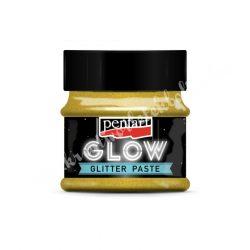 Pentart glow glitter gél, 50 ml