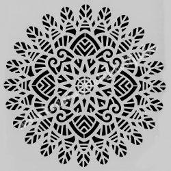 Stencil 268., Mandala, 24,5x24,5 cm
