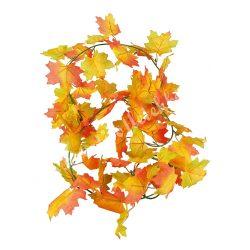 Őszi levélgirland, narancs-piros-zöld, 180 cm