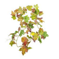 Őszi szőlőlevélgirland, bordó-zöld