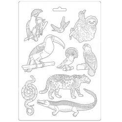 Lágy PVC öntőforma, Amazónia - állatok, A4