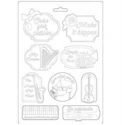 Lágy PVC öntőforma, Zene és kártya, A4