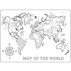 Lágy PVC öntőforma, világtérkép, A5