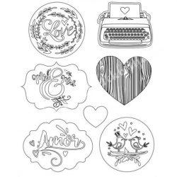 Lágy PVC öntőforma, Love Story Amor, A5