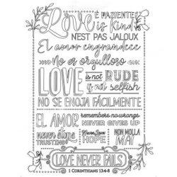 Lágy PVC öntőforma, Love never fails, A5