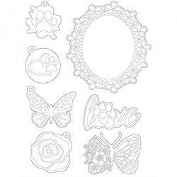 Lágy PVC öntőforma, Szerelem és pillangók , A5