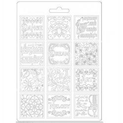 Lágy PVC öntőforma, Szenvedély patchwork, A5