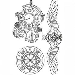Lágy PVC öntőforma, Sir Vagabond clocks fogaskerék fantázia, A5
