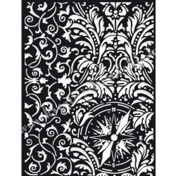 Stencil 233., Sir Vagabond iránytű, 15x20 cm