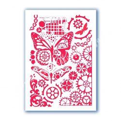 Stencil 101., Pillangók és óraszerkezetek, A4
