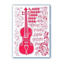 Stencil 103., Hegedű és kotta, A4