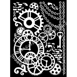 Stencil 223., Steampunk, 20x25 cm