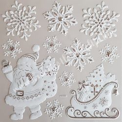 Ablakmatrica, Mikulás szánnal és hópehellyel