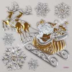 Ablakmatrica, Mikulás szarvasokkal és hópehellyel