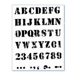 Stencil 118., ABC 2.., A4