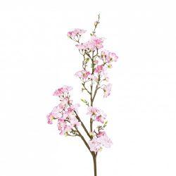 Selyem barackvirág ág, rózsaszín, 110 cm