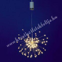 Micro LED-es tüzijáték dekoráció, 120 égős, meleg fehér,