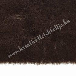 Rövid szőrű műszőr, csokoládébarna, 10x150 cm