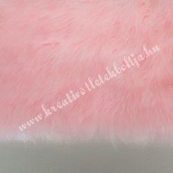 Rövid szőrű műszőr, pihepuha babarózsaszín, 10x150 cm