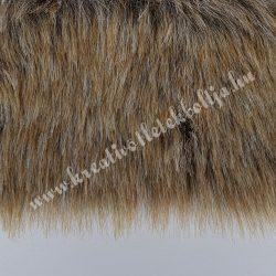 Középhosszú szőrű műszőr, melanzs őzbarna, 10x150 cm