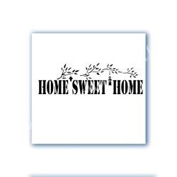 Stencil 112., Home Sweet Home, 25x10 cm