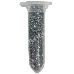 Mini csillámpor ezüst, kb. 10 gr/darab