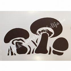 Stencil 66., gombák, 10x15 cm (cadence)