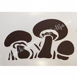 Stencil 66., gombák, 10x15 cm