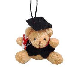 Akasztós plüss maci diplomasapkával