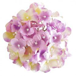 Hortenzia fej, lila-krém-zöld