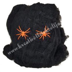 Pókháló, foszforeszkáló pókokkal, fekete, 60 gr
