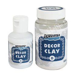 Pentart decor clay szett, 100 g + 40 ml