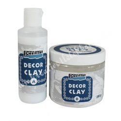 Pentart decor clay szett, 200 g + 80 ml