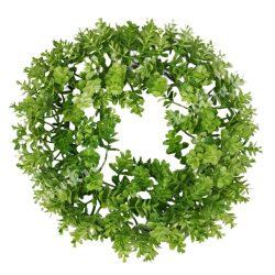 Koszorú, zöld, kb. 19 cm