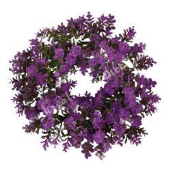 Koszorú, lila, kb. 19 cm