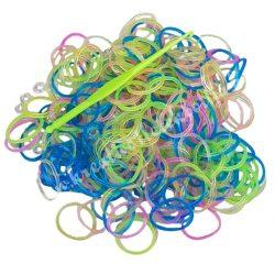 Gumigyűrű, vegyes színben szerszámmal, S6