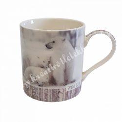 Porcelán csésze, jegesmedvés