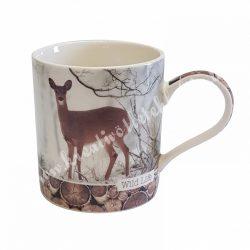 Porcelán csésze, őzikés