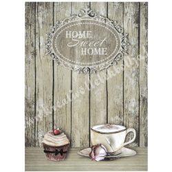 Rizspapír, Kávé és muffin, A4 (R0874)
