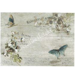 Rizspapír, Pillangók és virágok, A4 (R1185)