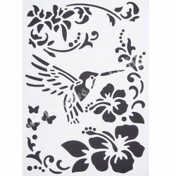 Stencil 241., Kolibri., A4