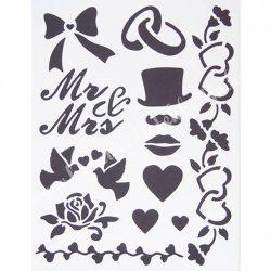 Stencil 240., Esküvő., A4