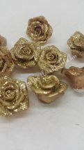 Ragasztható rózsa, arany, csillámos