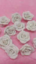 Ragasztható rózsa, fehér, csillámos
