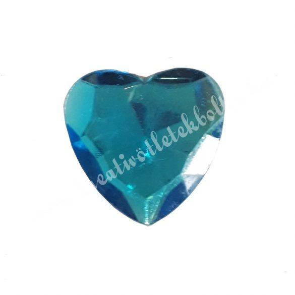 Ragasztható szív, műanyag, kék