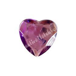 Ragasztható szív, műanyag, lila